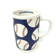 Starbucks 2007 Baseball Jumbo Coffee Mug Large 16oz. Red White Blue MLB - $21.44