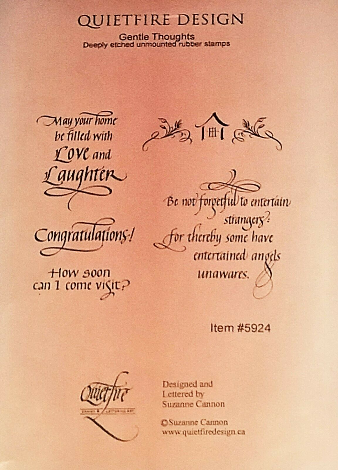 Quietfire Design Sentiment Stamp Set #5924