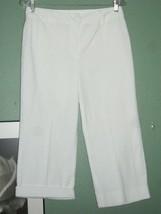 CHADWICKS  White - NO SEE THRU Capri Sz 10 - $14.85