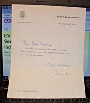 1969 BUCKINGHAM PALACE Letter signed by JAMES ORR, Prince Philip,Secretary - £88.06 GBP