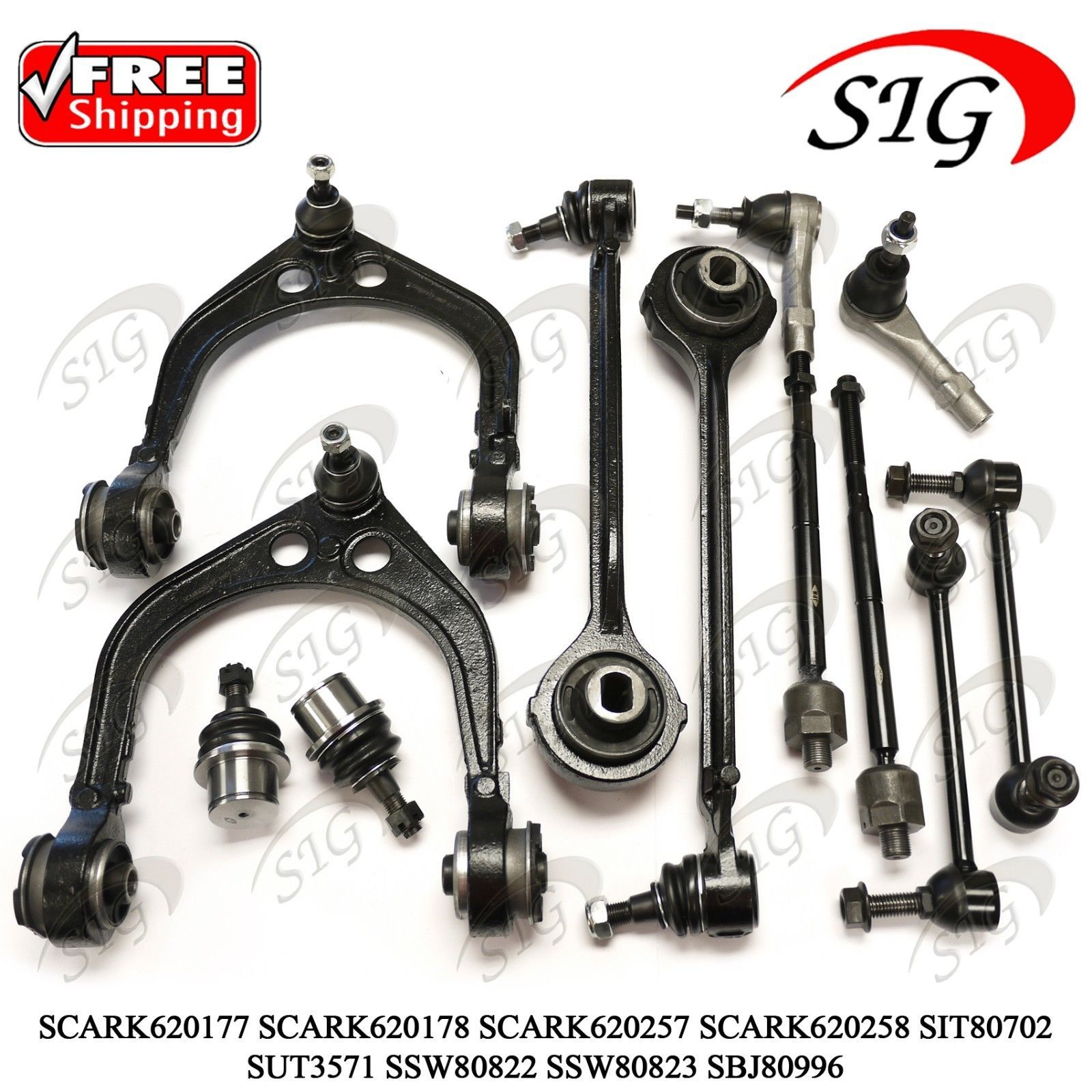 2008 Maybach 57 Suspension: 12Pc JPN Front Suspension & Steering Kit For Dodge