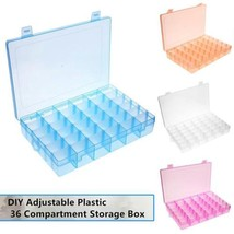 36 Slots Compartments Clear Adjustable Jewelry Makeup Storage Organizer ... - $6.88