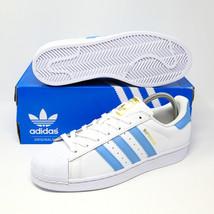 Adidas Originali Superstar Foundation Luce Bianca Oro Blu BY3716 UNC Carolina - $126.76