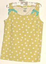 Girls Green Polka Dot & Bows Top Size 8 Gymboree - $3.00
