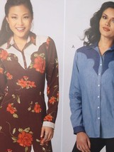 Kwik Sew Sewing Pattern 4133 Misses Ladies Shirt & Dress Size XS-XL New - $15.65