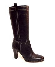ANNE KLEIN of New York Size 8.5 Black Leather Boots 8 1/2 - $57.60