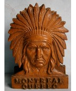 Montreal Quebec Souvenir Coaster Holder with Indian Chief Motif  - $23.70