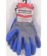Latex-Coated Cotton Large Work Gloves - All Purpose Grip - $9.85