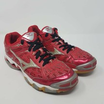 Mizuno Womens Wave Lightning 5 Volleyball Shoes Red 9KV-98062 Low Top 8.5 M - $24.87