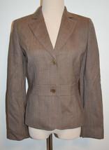 New Ann Taylor Loft Sz 2 Blazer Beige Wool Button Long Sleeve Lined Jacket - $31.78