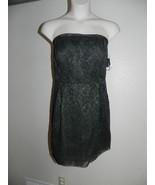 Davids Bridal Dress Size 16 Strapless Tarragon Corded Lace Bridesmaid NW... - $72.57