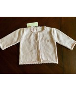 Kissy Kissy - Baby Girl Knit Cardigan, Chelsea Rose,  0-3 Months, NWT - $23.74