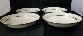 The French Saxon China Co Soup Salad Bowls Set of 4, 22kt Gold, Pottery Made USA image 10