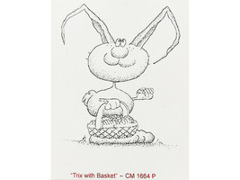 Trix with Basket Rubber Cling Stamp #CM1664P image 2