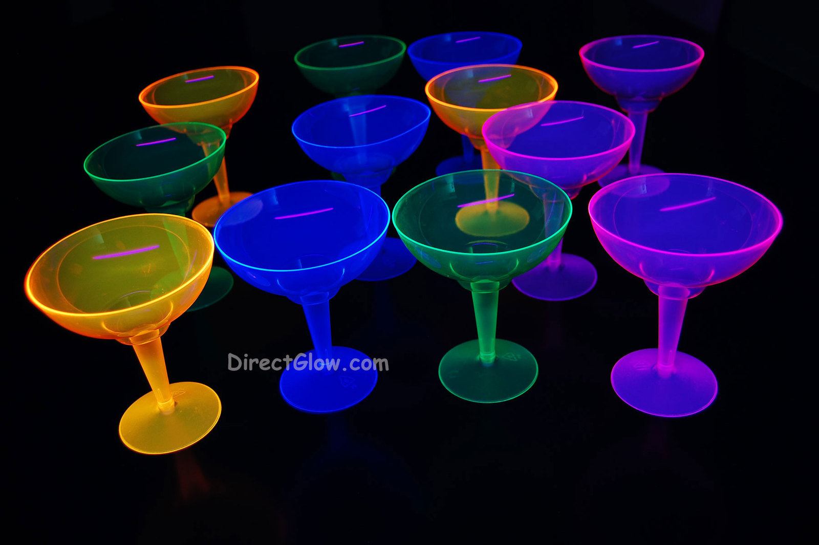 Assorted neon blacklight margaritas4