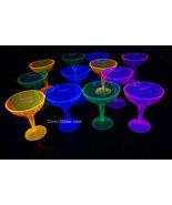Neon Blacklight Reactive Margarita Glasses - 12 ct - $13.95
