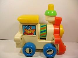 1982 Playskool Busy Choo Choo Train Toddler Push Toy Vintage Child Guidance  - $8.59