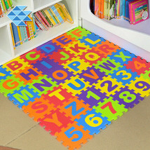 36 x Baby Soft EVA Foam Play Mat Alphabet Numbers Puzzle DIY Toy Floor T... - $26.50