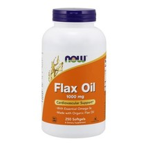 Organic Flax Oil, 1000 mg, 250 Sgels by Now Foods - $11.69