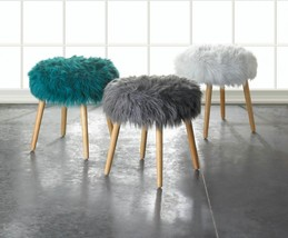 Faux Fur Stool Available in 2 Colors - $89.95