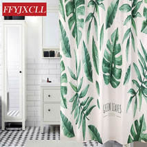 American Pastoral Digital Printing Banana Leaves Shower Curtain Waterpro... - $48.94