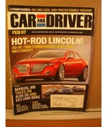 Car and Driver Magazine February 2007 Hot-Rod Lincoln, Manual M5, Audi S6 - $8.99