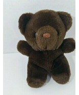 Russ Berrie Honey Dark Brown Plush Teddy Bear 431 Stuffed Animal vintage... - $17.81