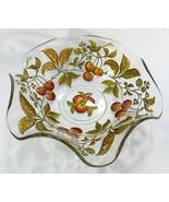 Vintage dugan diamond goofus glass painted intaglio cherry pattern bowl - $52.86