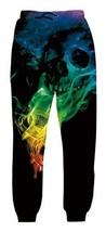 Belovecol Men's Novelty Active Baggy Sweatpants 3D Print Smoke Skull Joggers Pan
