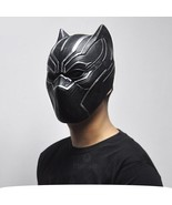 Halloween Black Panther Mask Mens Cosplay Latex Toy Party Full Face Cool... - $19.54