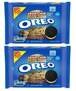 (2 Pack) NABISCO FAMILY SIZE OREO JAVA CHIP COFFEE CHOCOLATE COOKIES 17 ... - $21.77