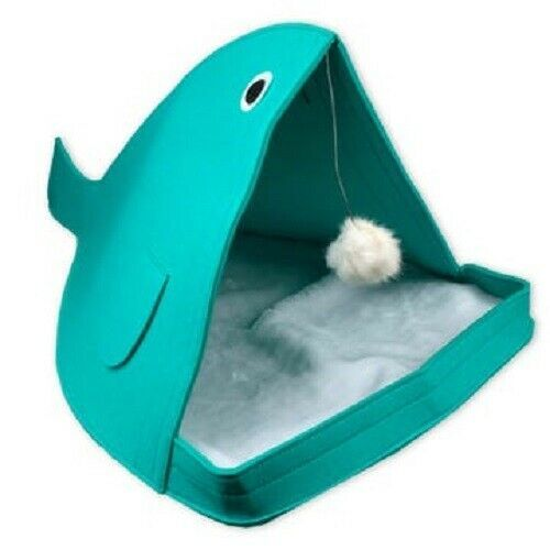 Primary image for ComfortabIe Soft Interactive Cozy Kitty Cat Pet House Cave Bed Lounger Toy