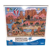 """Americana Collection 500 Pc Jigsaw Puzzle 13""""x19"""" Canyon Express, Anthon... - $19.34"""