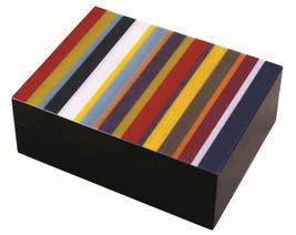 Ercolano Luxury Wooden Handmade Italian Luxury Colour Stripes Jewelry Box - $190.00