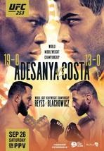 UFC 253 Poster Israel Adesanya VS Paulo Costa MMA Fight Event Card Art P... - $9.90+