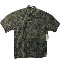 JOHARI WEST Mens SIZE M Medium Geometric Short Sleeve Button Up Shirt - $21.55