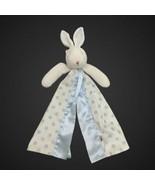 Bunnies By The Bay Blue Cream Polka Dot Satin Trim Bunny Lovey Security ... - $34.64