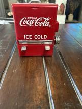 Coca Cola Toothpick Dispenser 1995 Red Ice Chest Design - $13.09