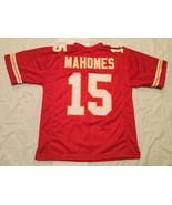 UNSIGNED CUSTOM Sewn Stitched Patrick Mahomes Red Jersey - M, L, XL, 2XL - $27.87