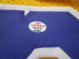 MAGIC JOHNSON / NBA HALL OF FAME / AUTOGRAPHED LAKERS YELLOW CUSTOM JERSEY / COA image 5
