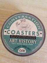 """1996 CONVERSATION COASTERS IN TIN.4"""" .ART,HISTORY.MISSING ONE.23.MADE IN... - $28.04"""