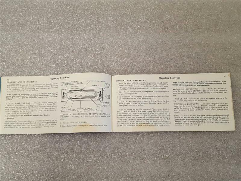 FORD PASS 1973 Owners Manual 15825