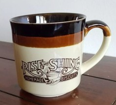 1986 Hardee's Diner Rise and Shine Homemade Biscuits Coffee Mug  - $9.89