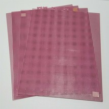 Lot of 4 Plum/Dusty Rose Darice 10.5 x 13.5 Plastic Canvas Sheet 7 Mesh USA - $11.63
