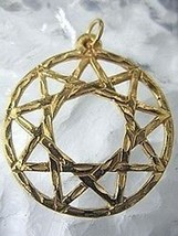 NICE New Gold Plated celtic Spiral star Pendant Charm silver - $19.74