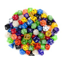 unique polyhedral dice, Wiz 100 Colorful Random Assorted lot dice rpg set - $35.99
