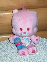 "CARE BEARS Pink Plush 10"" Cheer Cub Bear w/ Heart Eyes, Diaper, & Baby B... - $6.95"