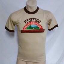 VTG Baileys Irish Cream Liquor T Shirt Ringer Tee Bar Tavern Import Prom... - $39.99
