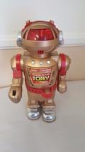Walking Talking Toby Robot Gold Vintage 80's Toy  - $14.69