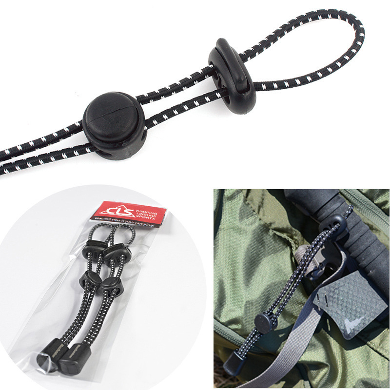 2pcs Outdoor Backpack Mountaineering Climbing Stick Rope Clip Buckle Fixed Buckl